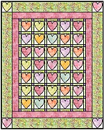 Country Hearts Baby Quilt