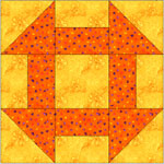 Hole in the Barn Door quilt block