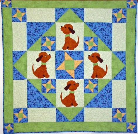 Dog Star Quilt By Jeanne Prue