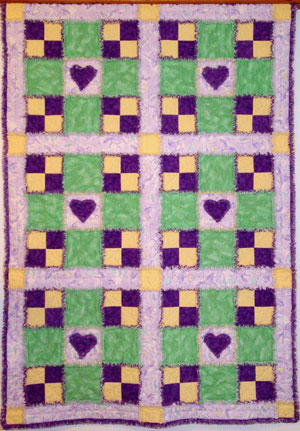 Fuzzy Hearts Quilt by Jeanne Prue