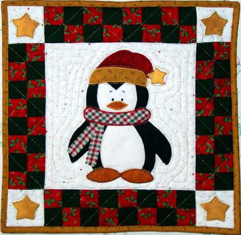 Penguin Applique Quilt Pattern Appliq Patterns
