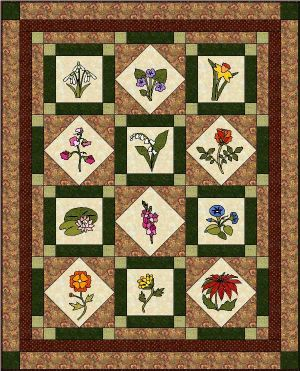 Happy Birthday Quilt Pattern SP-110e (instant download)