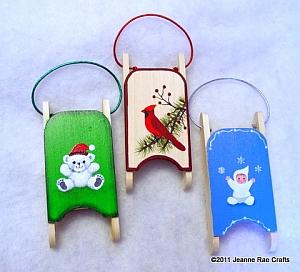 Sled Ornaments