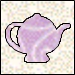 Applique Teapot