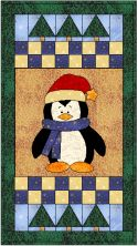 Penguin in the Woods Quilt