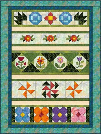 Rosy Posy Rows Quilt