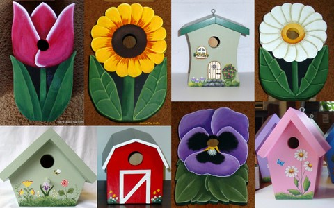 Birdhouses from Wildflower Wood