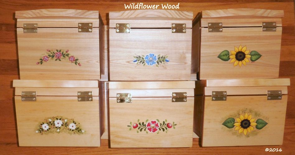 Classic box tops from Wildflower Wood