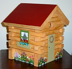 Log Cabin Birdhouse from Wildflower Wood