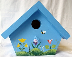 Medium Blue Nuthatch Birdhouse from Wildflower Wood