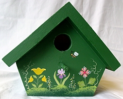 Dark Green Nuthatch Birdhouse from Wildflower Wood