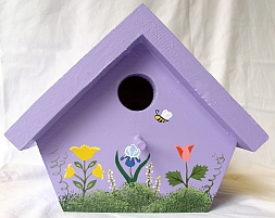 Lavender Nuthatch Birdhouse from Wildflower Wood