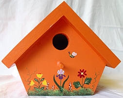 Orange Nuthatch Birdhouse from Wildflower Wood
