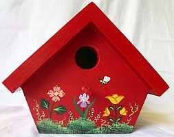 Red Nuthatch Birdhouse from Wildflower Wood
