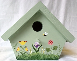 Sage Green Nuthatch Birdhouse from Wildflower Wood