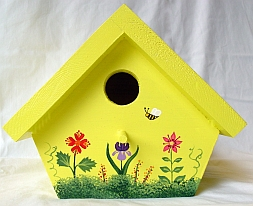 Yellow Nuthatch Birdhouse from Wildflower Wood